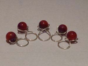 Homemade stitch markers