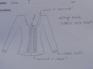 Cardigan Design Sketch