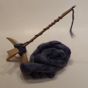 Drop spindle & fiber