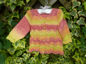Scalloped Lace Baby Sweater