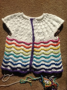 Scalloped Lace Toddler Cardigan