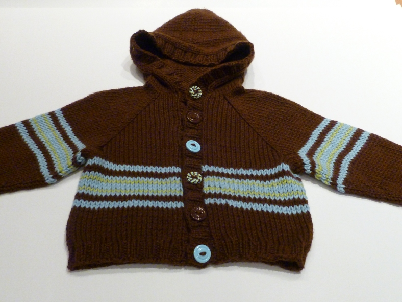 Striped Baby Hoodie - 4