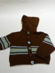 Striped Baby Hoodie - 6