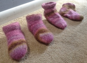 Felted Slippers, Take Two
