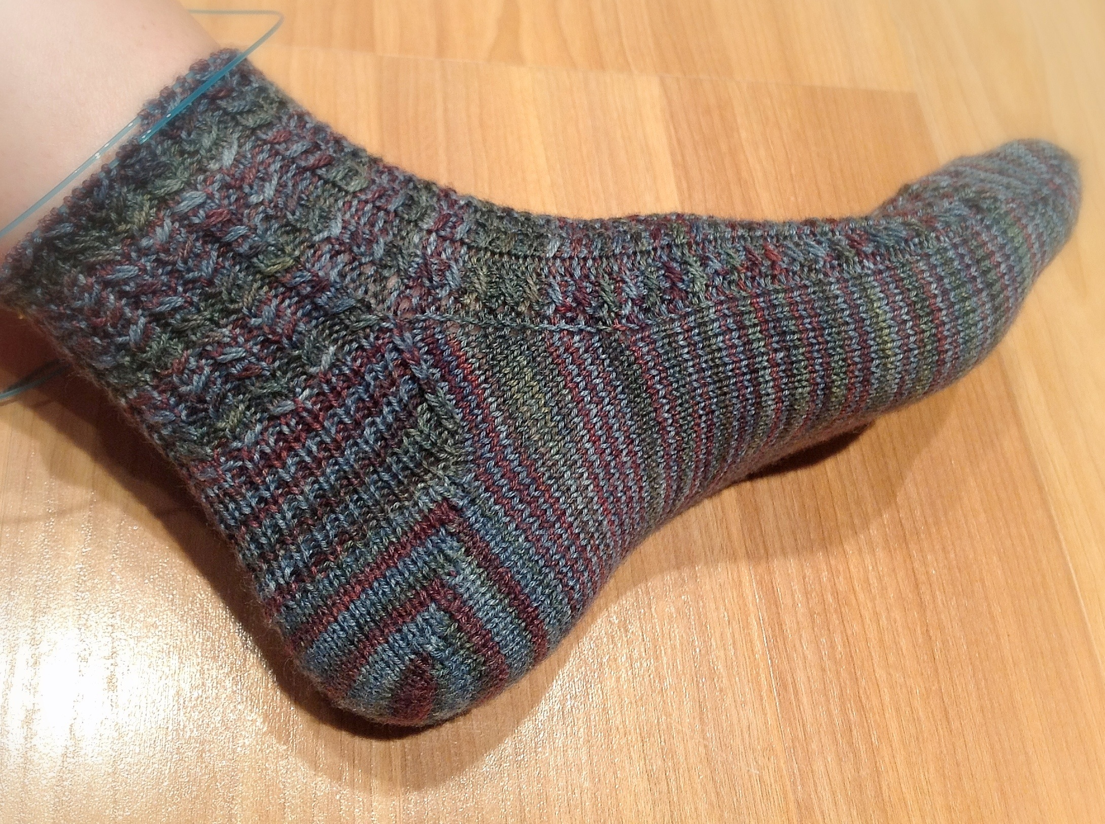 Knitting Pattern Sock Short Row Heel : short rows Laura Gets Crafty